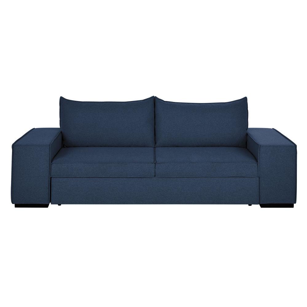 Canapé-lit 2/3 places bleu nuit