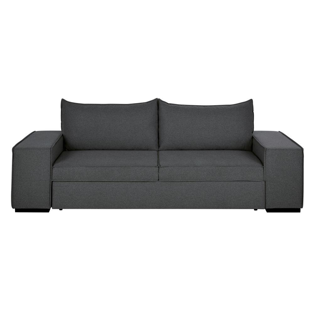 Canapé-lit 2/3 places gris foncé