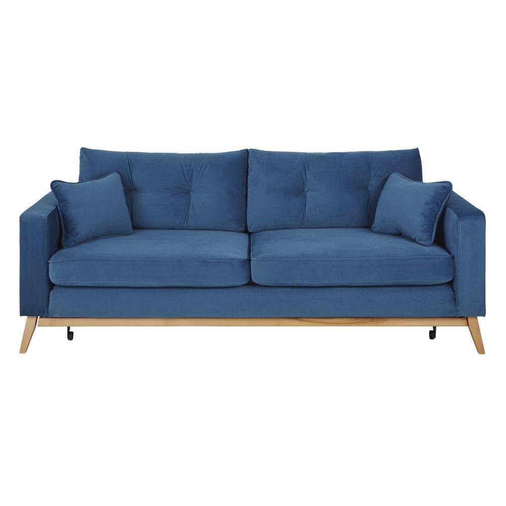 Canapé-lit 3/4 places bleu
