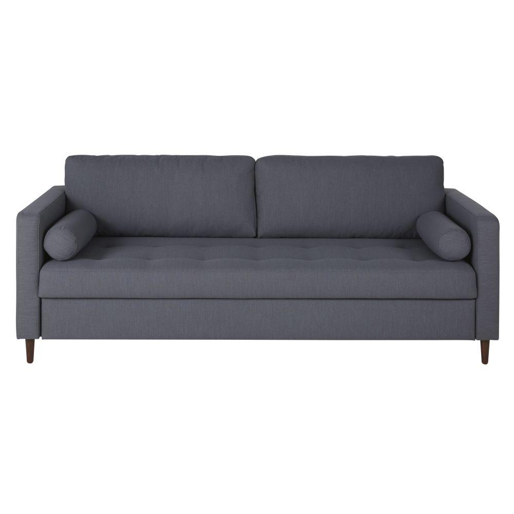 Canapé-lit 3/4 places gris anthracite