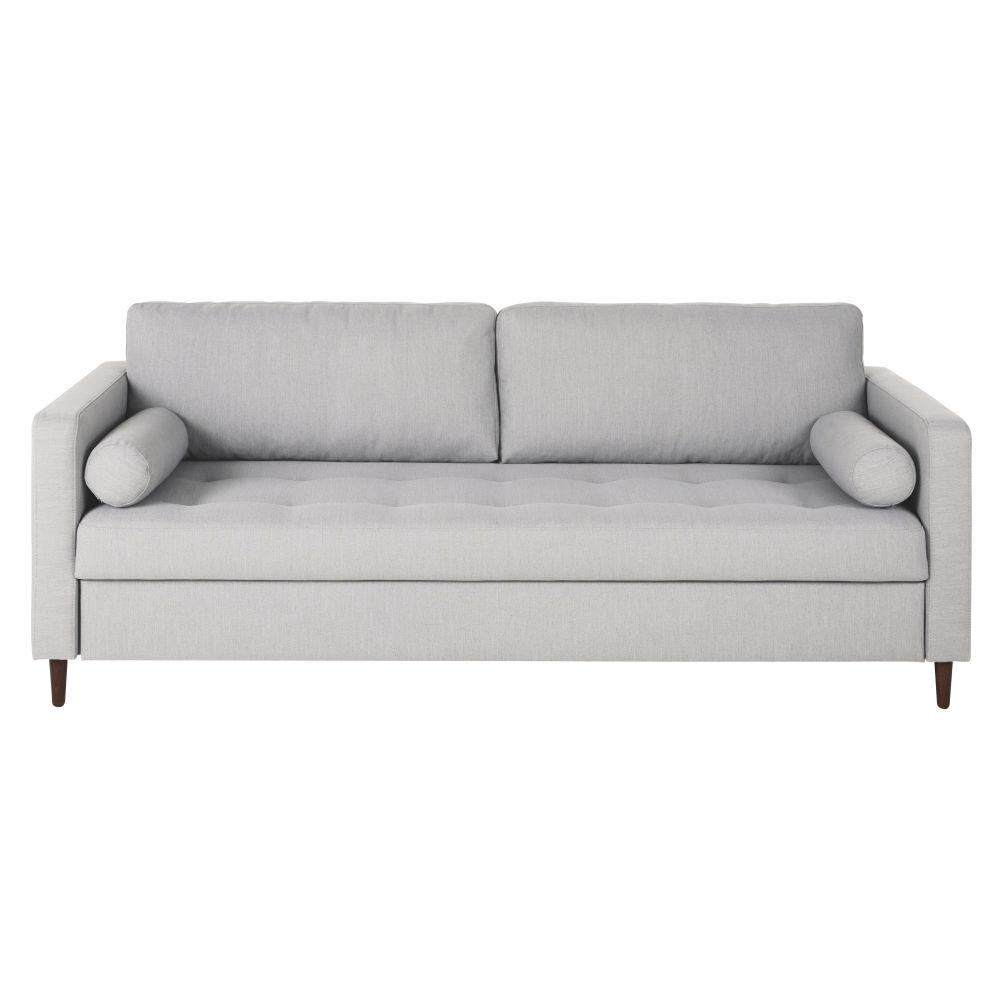 Canapé-lit 3/4 places gris chiné