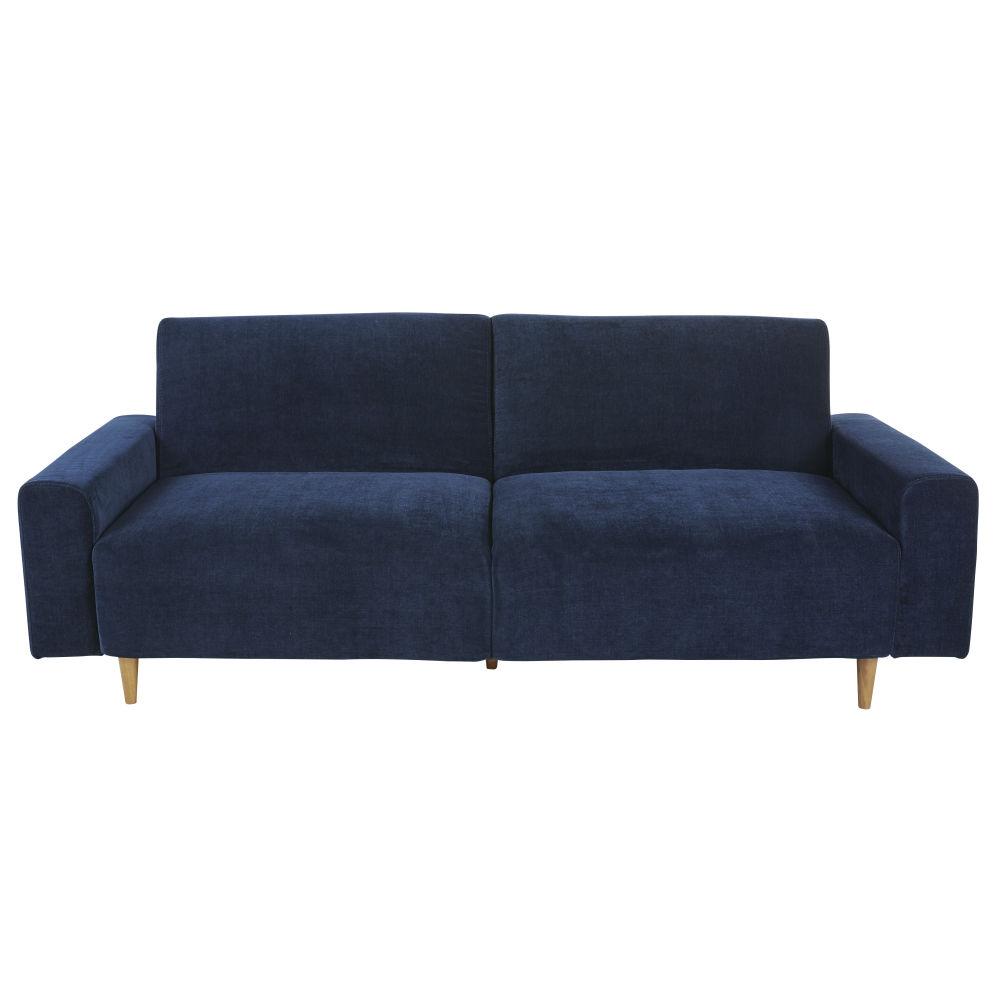Canapé-lit 3 places bleu foncé