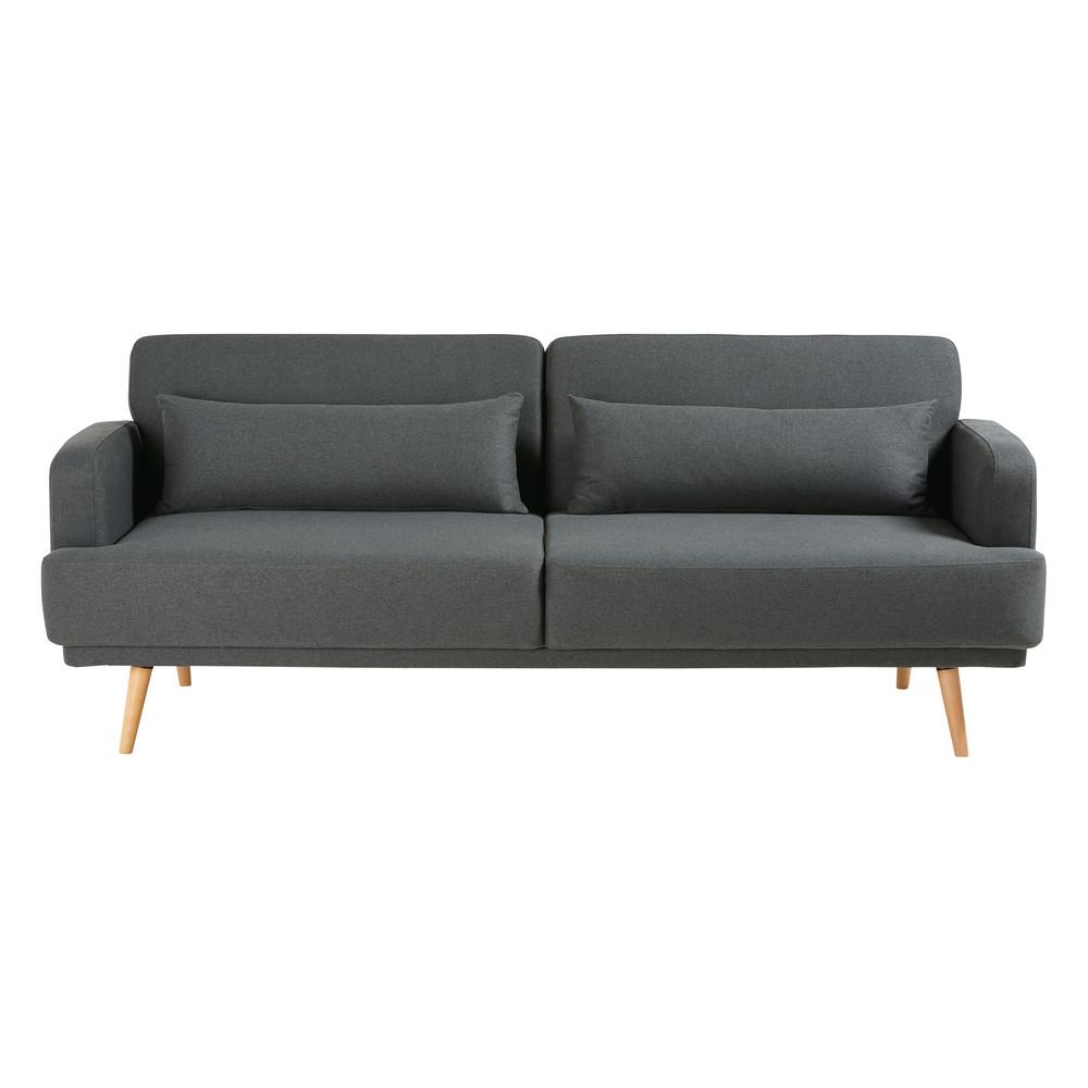 Canapé-lit 3 places gris