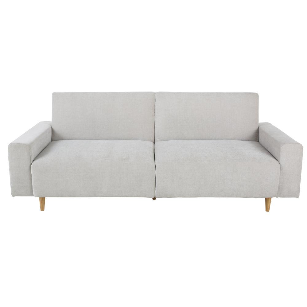 Canapé-lit 3 places gris clair