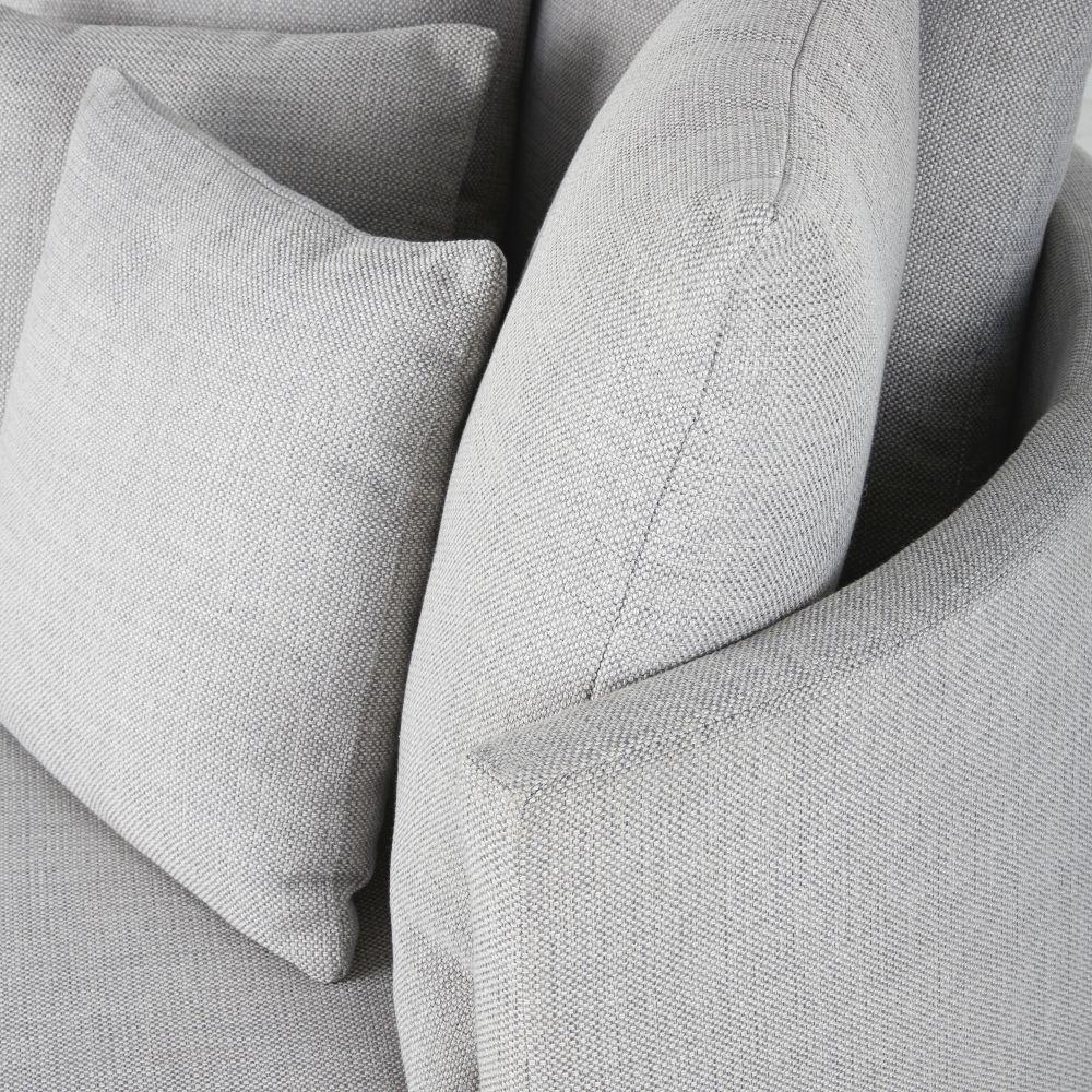 Canapé rond 2 places gris