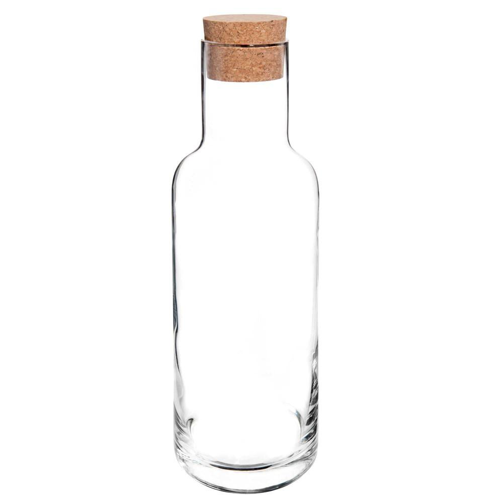 Carafe en verre avec bouchon en liège