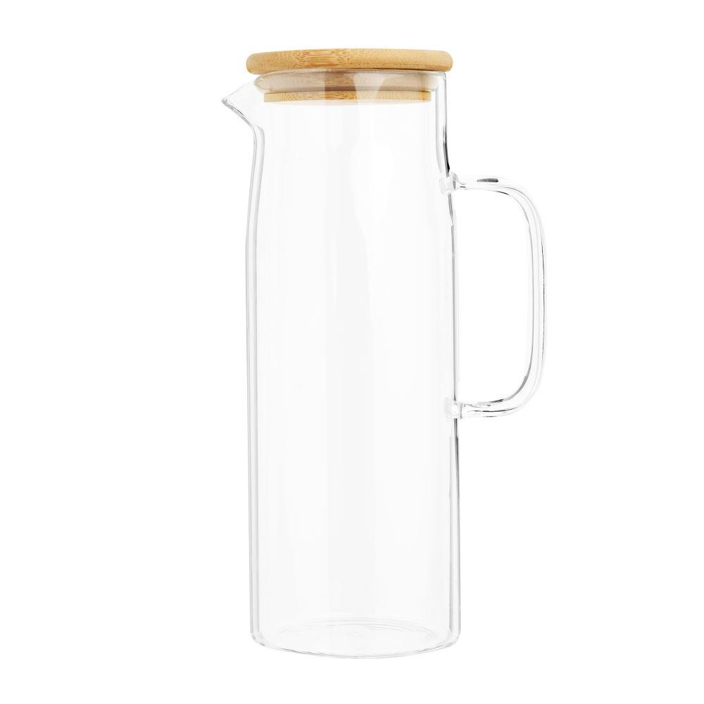 Carafe en verre et couvercle en bambou 1,2L