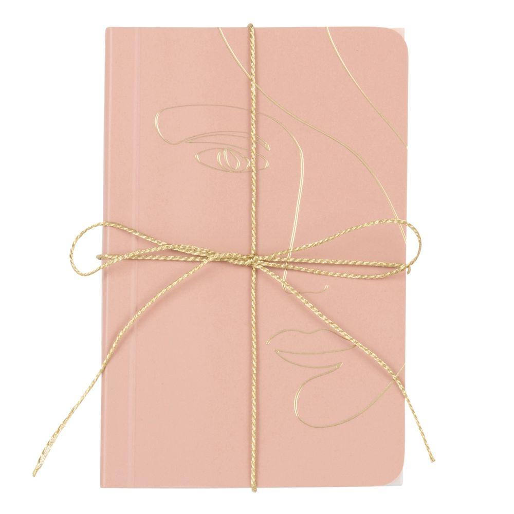 Carnets de notes rose, blanc et doré (x2)