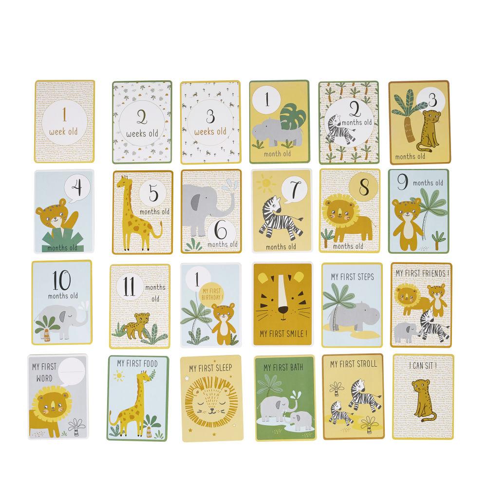Cartes étapes 12 premiers mois bébé en papier imprimé