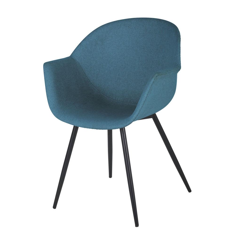 Chaise avec accoudoirs bleue