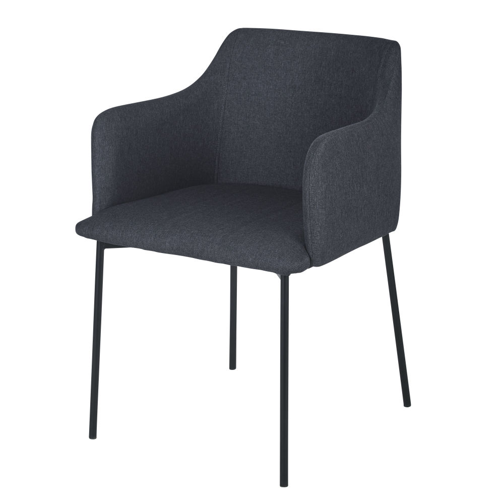 Chaise avec accoudoirs gris anthracite