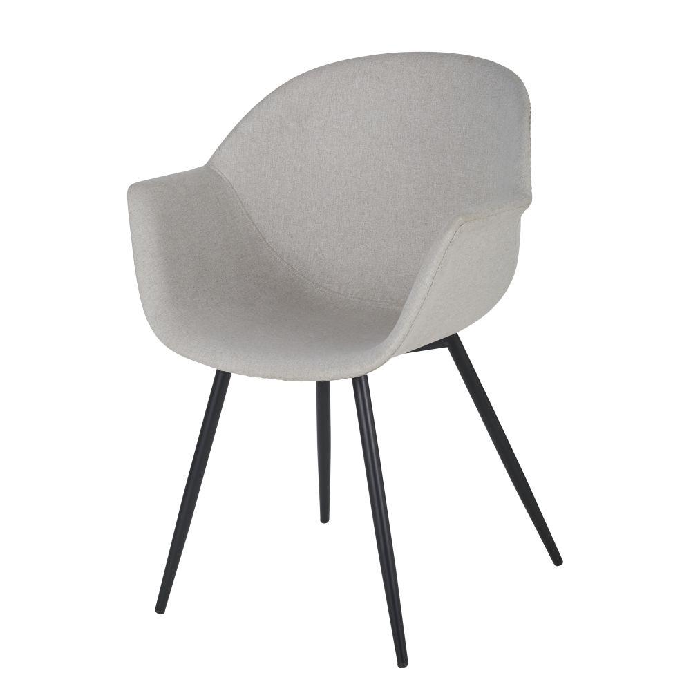 Chaise avec accoudoirs gris clair