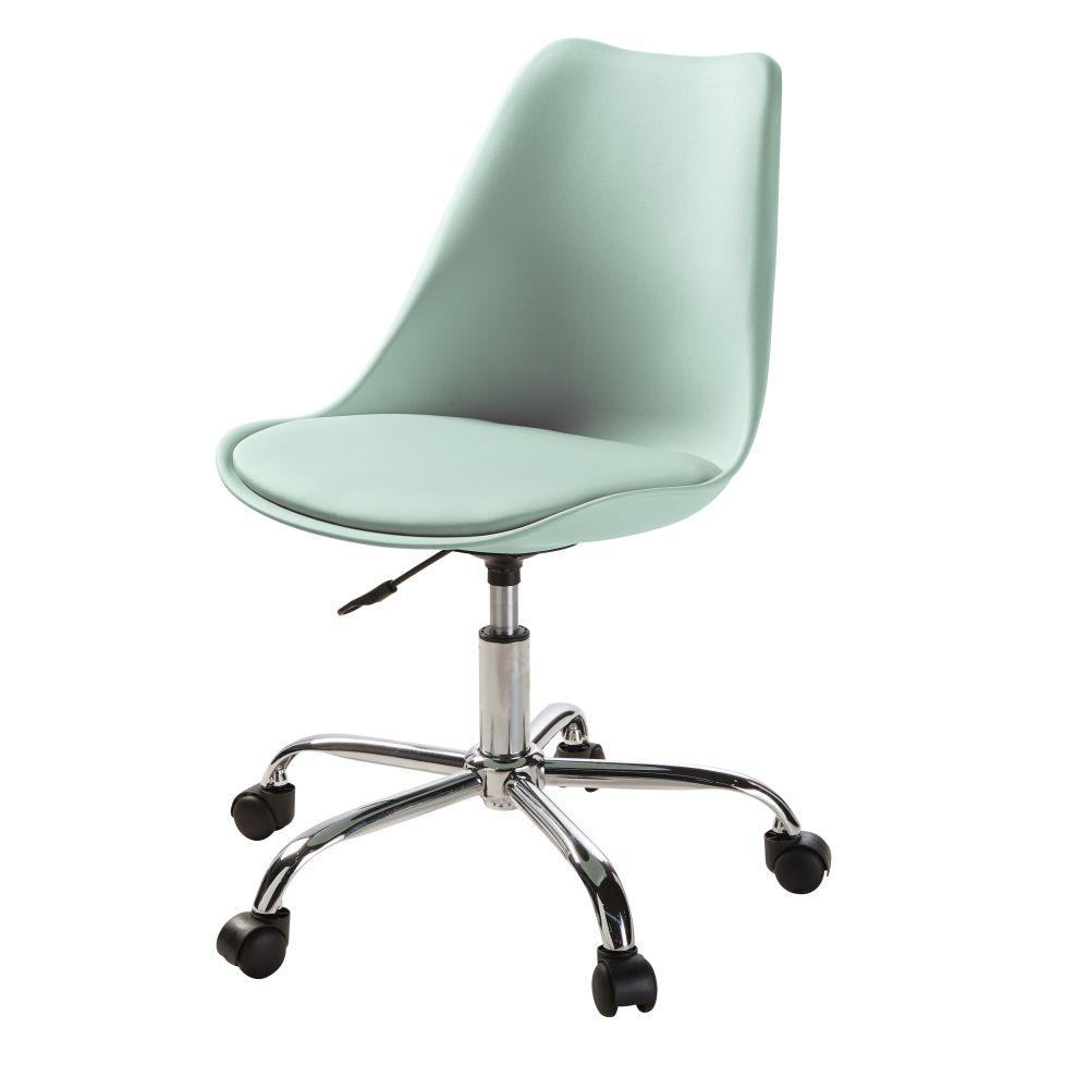 Chaise de bureau à roulettes verte