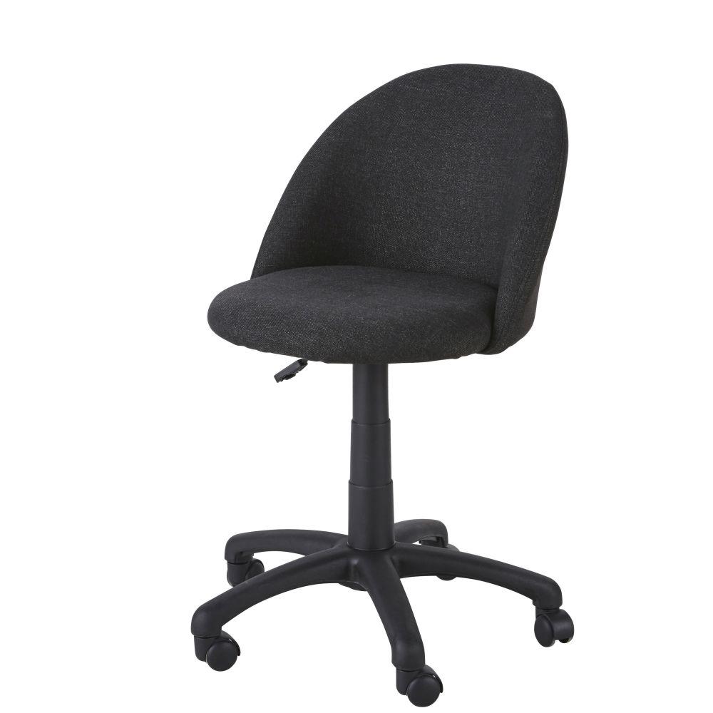 Chaise de bureau enfant à roulettes gris anthracite