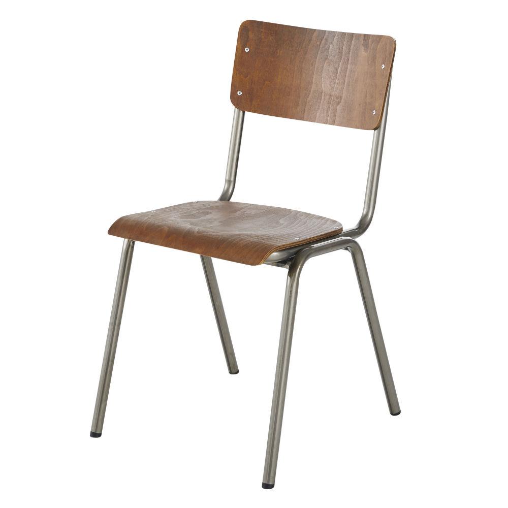 Chaise en hêtre marron