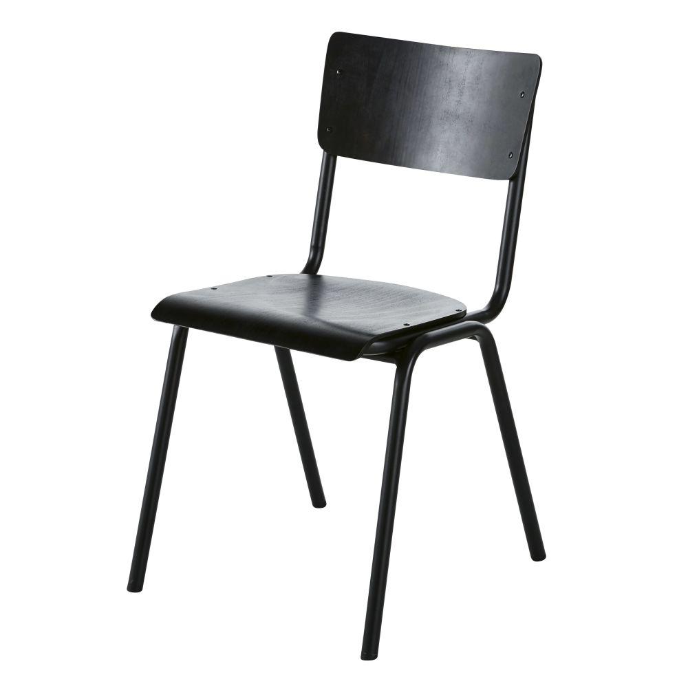 Chaise en hêtre noir