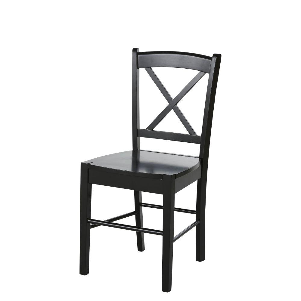 Chaise en hévéa noir
