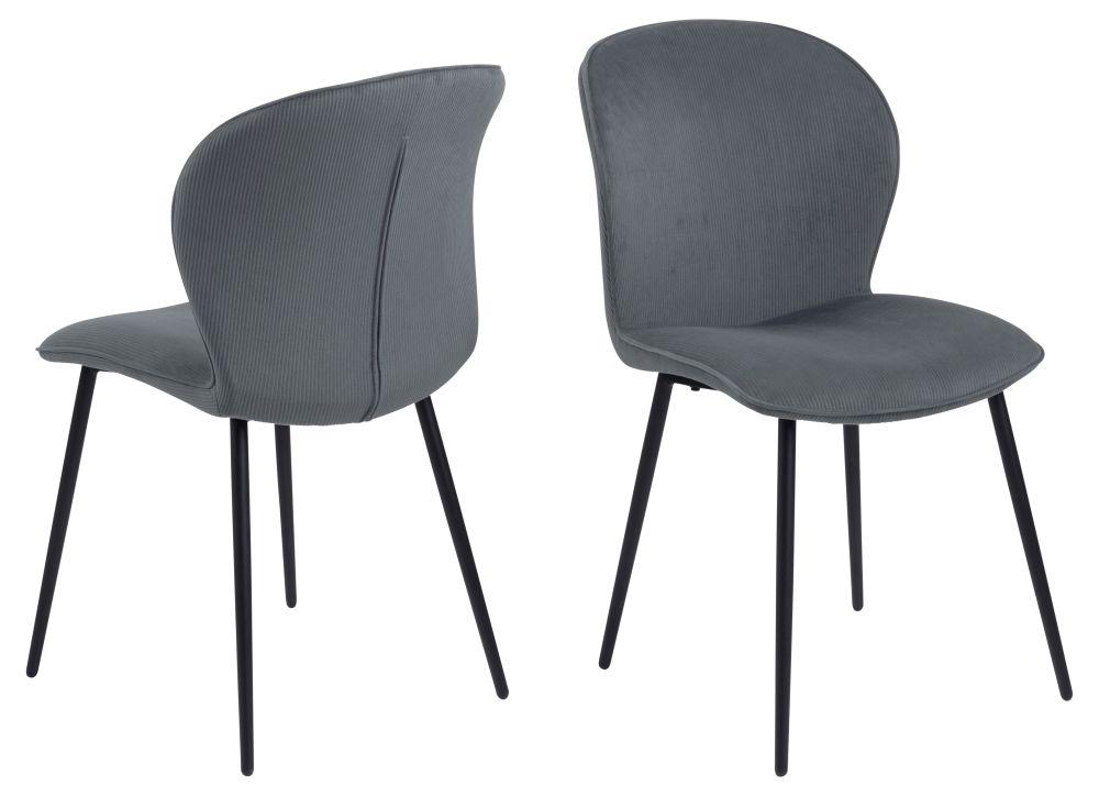 Chaise en velours gris