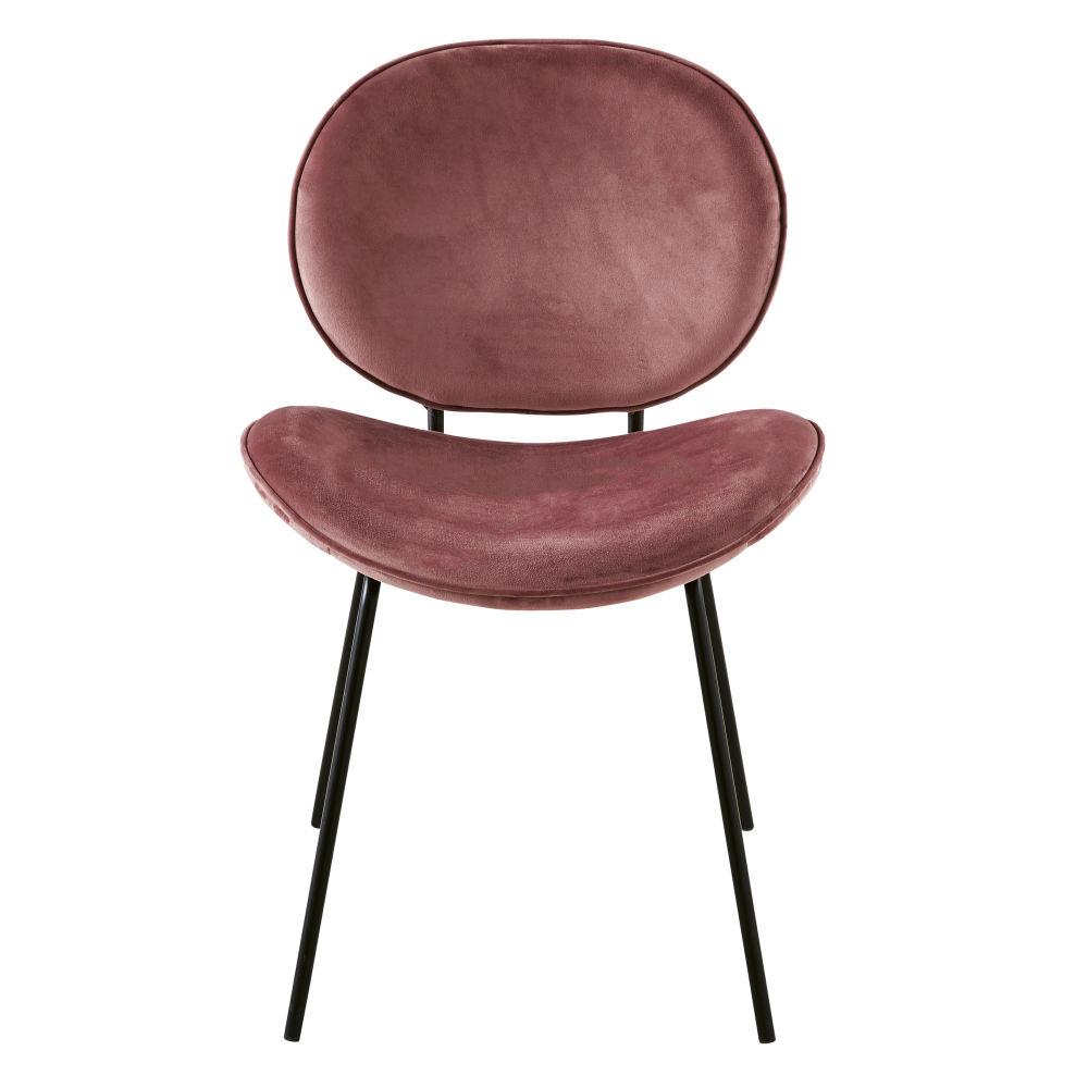 Chaise en velours terracotta