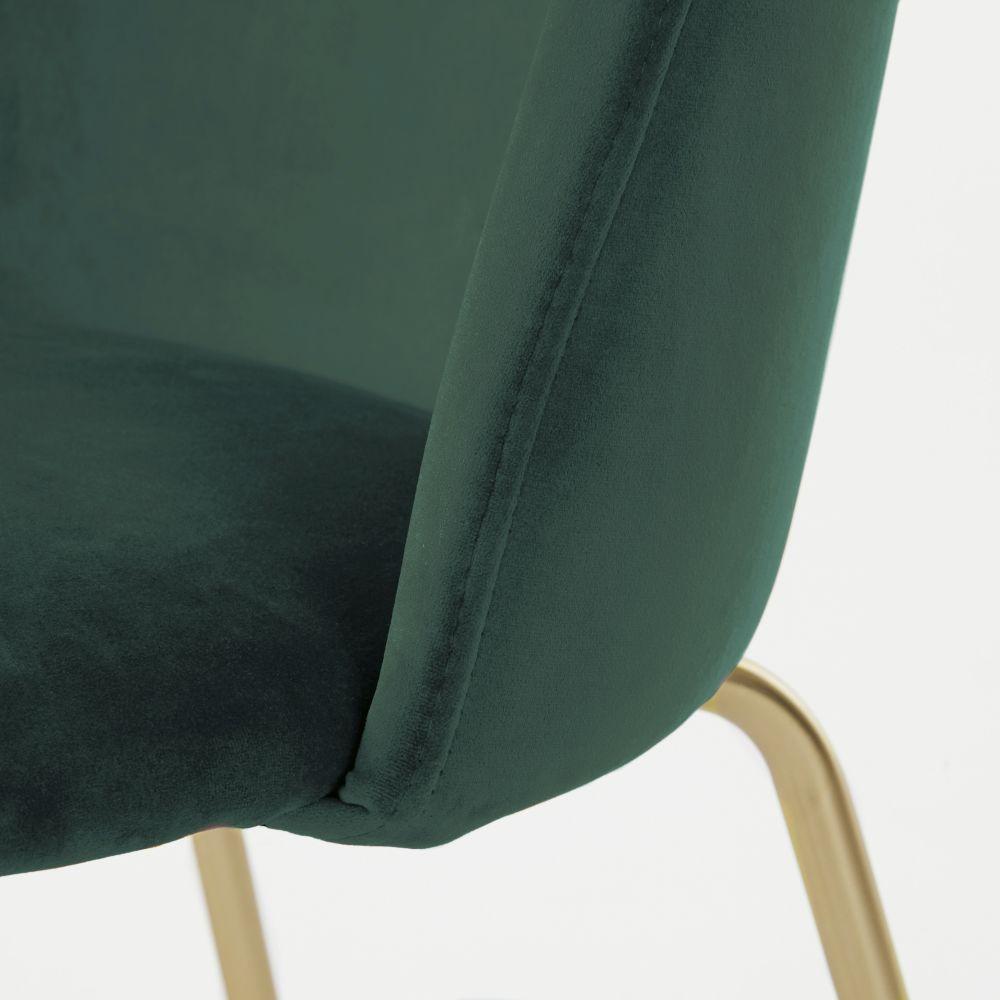 Chaise en velours vert forêt