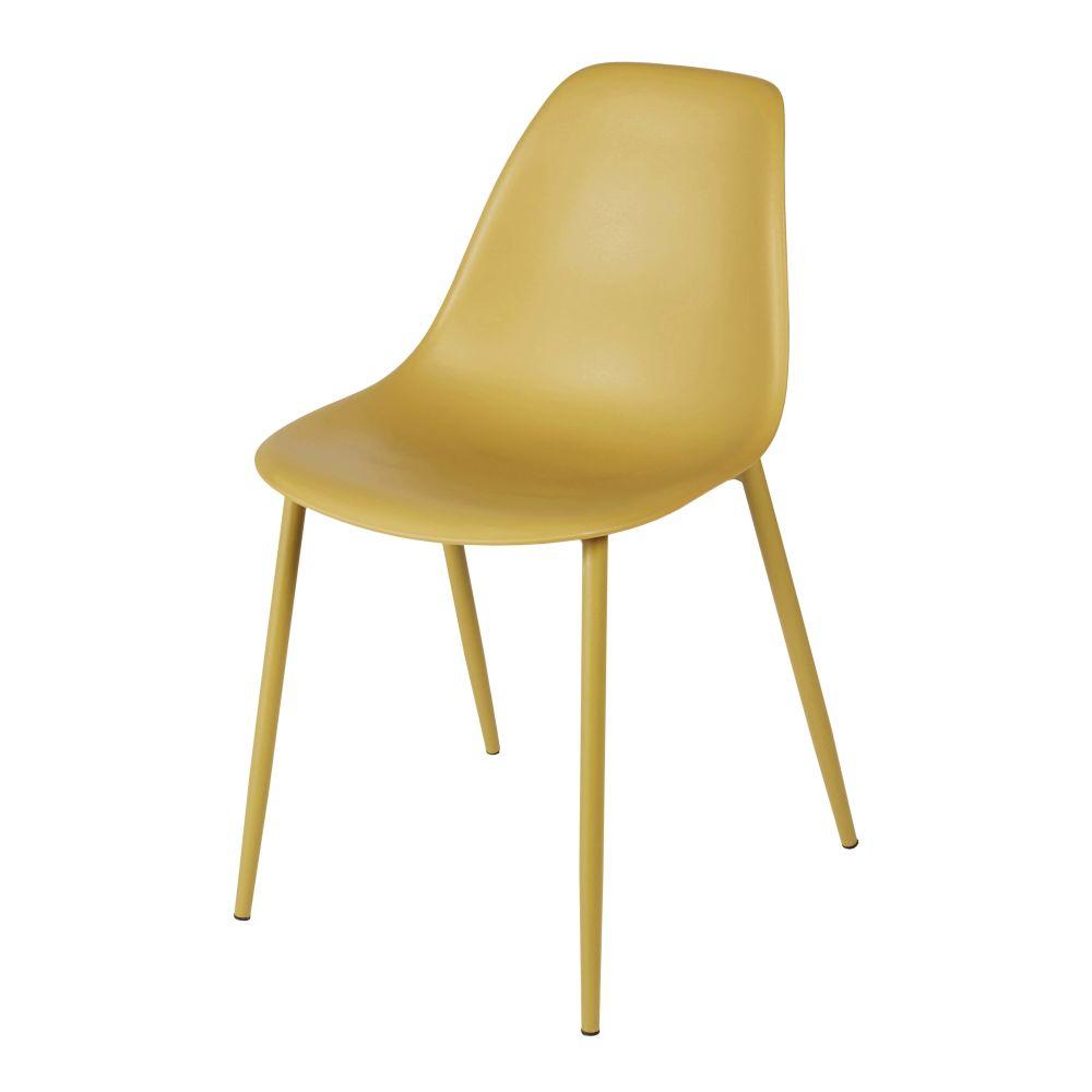 Chaise enfant style scandinave jaune