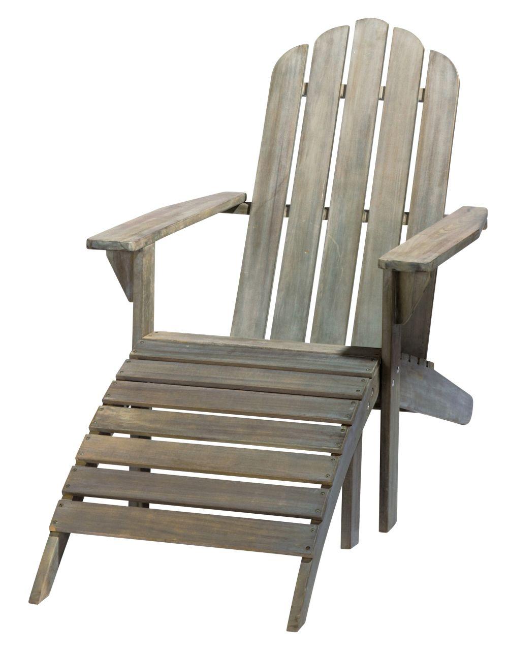 Chaise longue en acacia grisée