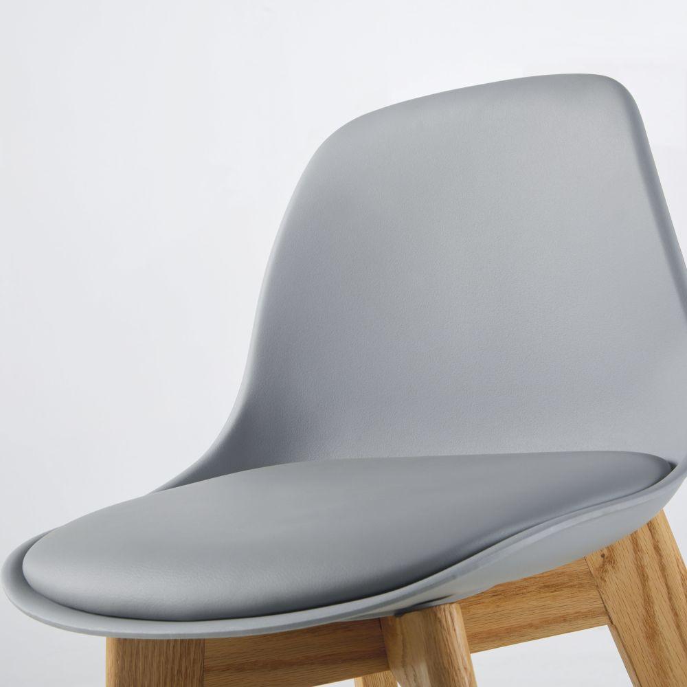 Chaise pour îlot central style scandinave grise et chêne