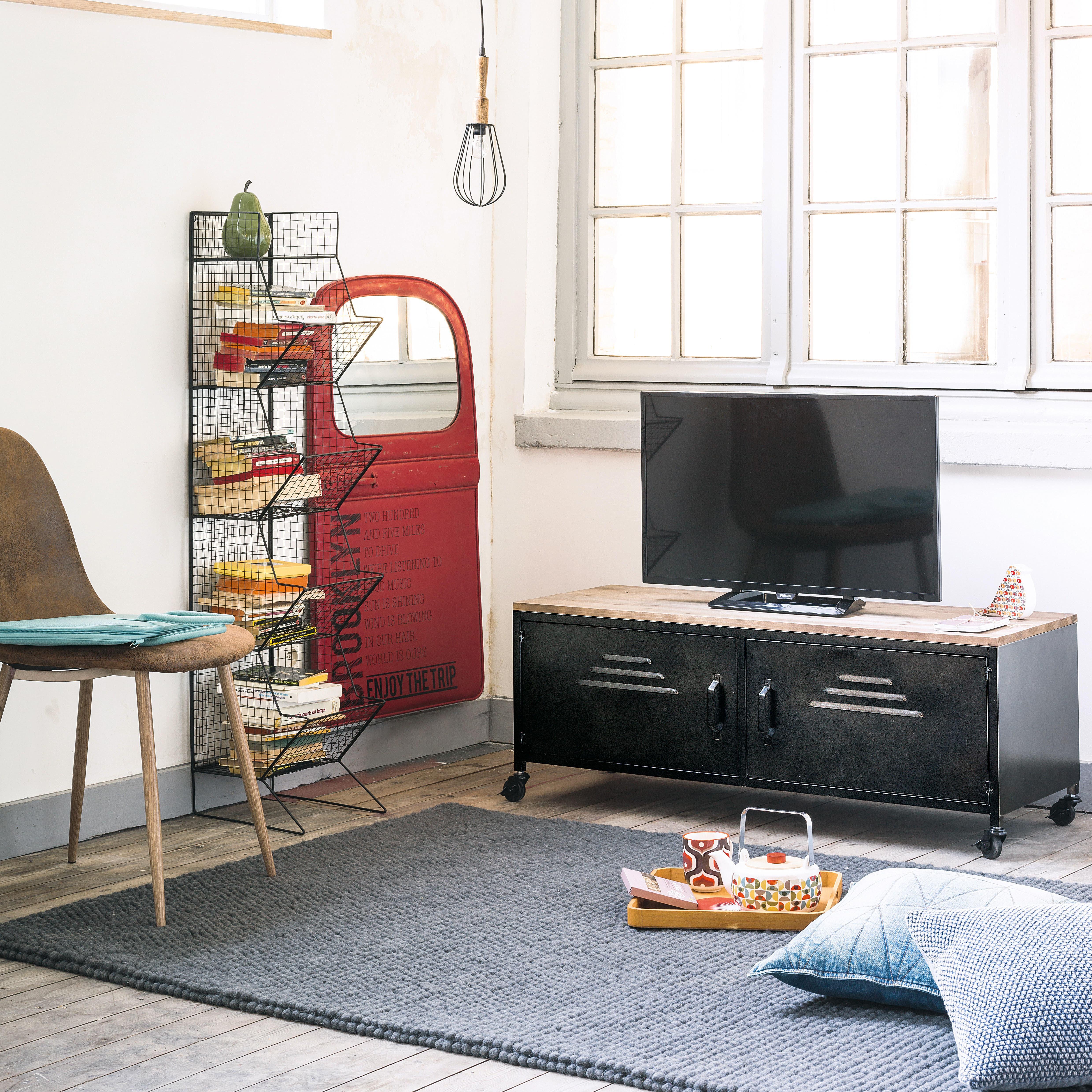 Chaise style scandinave en microsuède marron vieilli