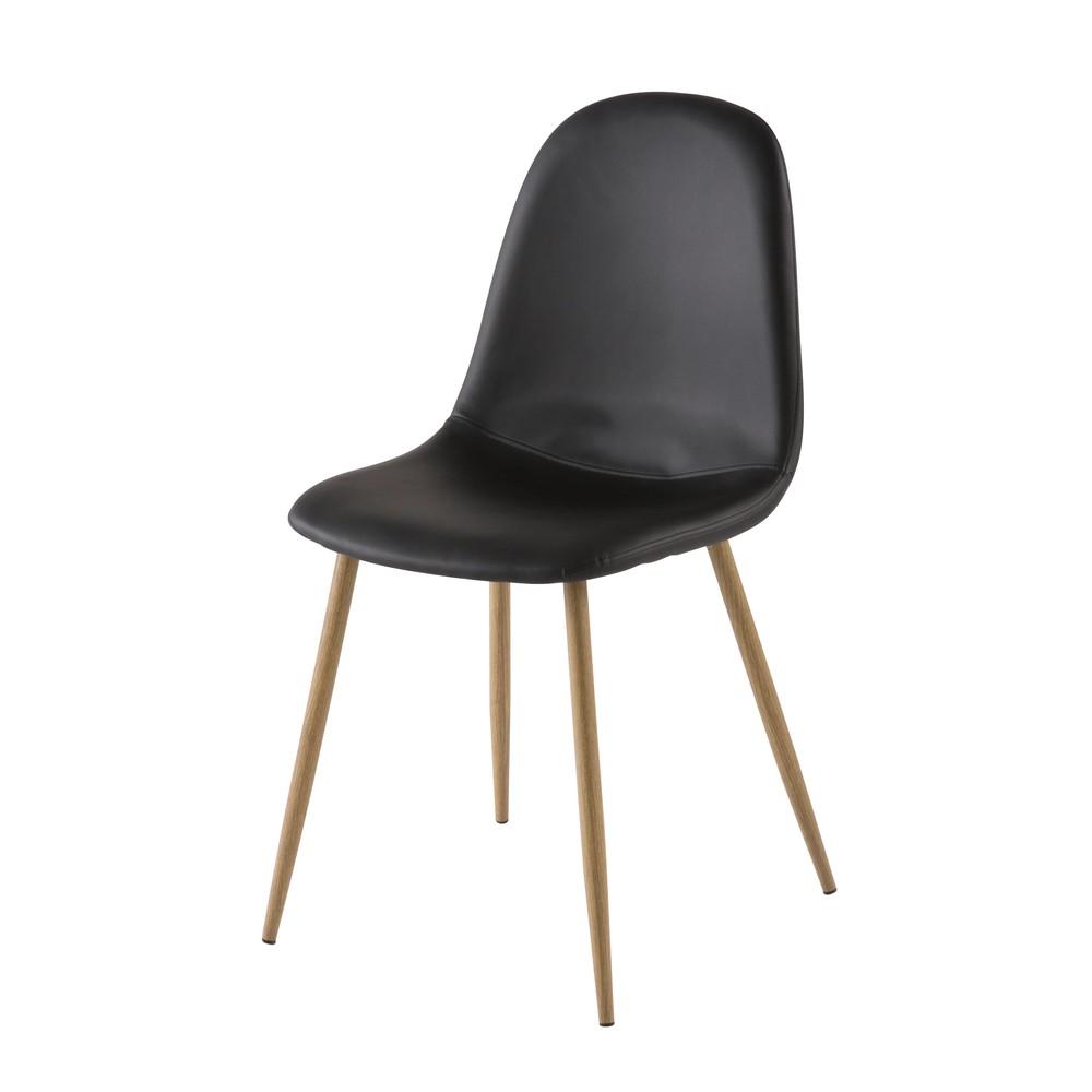 Chaise style scandinave noire
