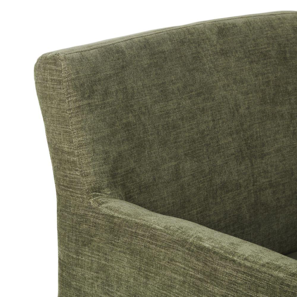 Chaise verte et pieds en bouleau noir