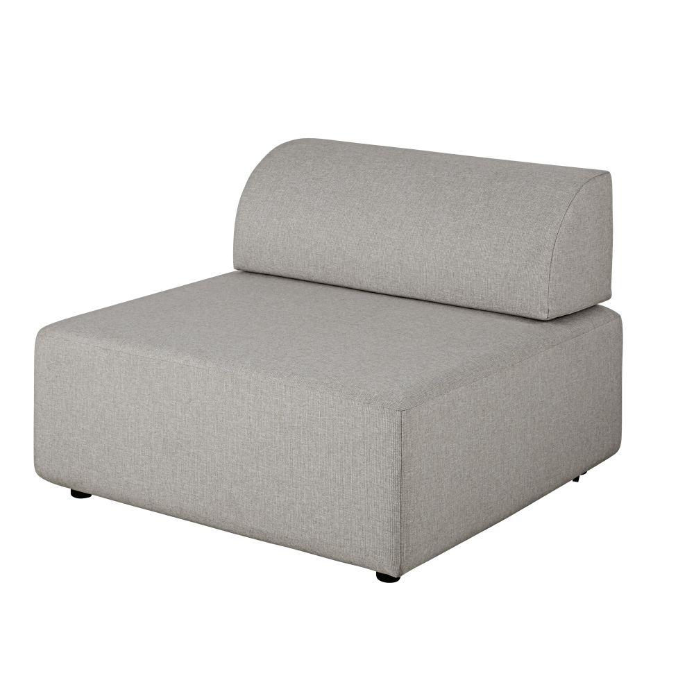 Chauffeuse pour canapé modulable grise