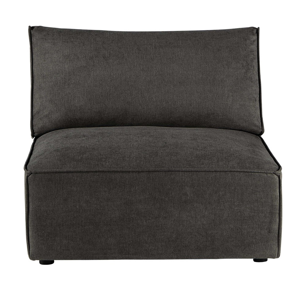 Chauffeuse pour canapé modulable taupe grisé