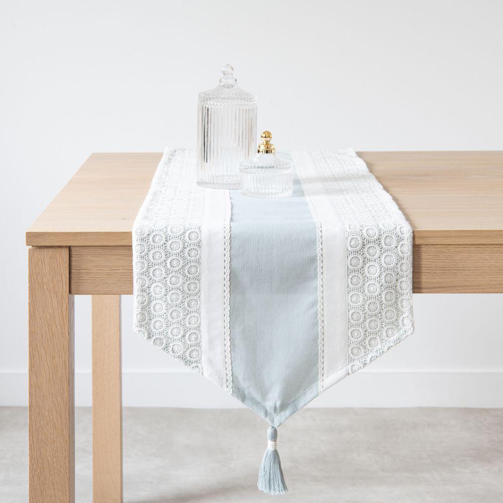 Chemin de table en coton à dentelle 40x150