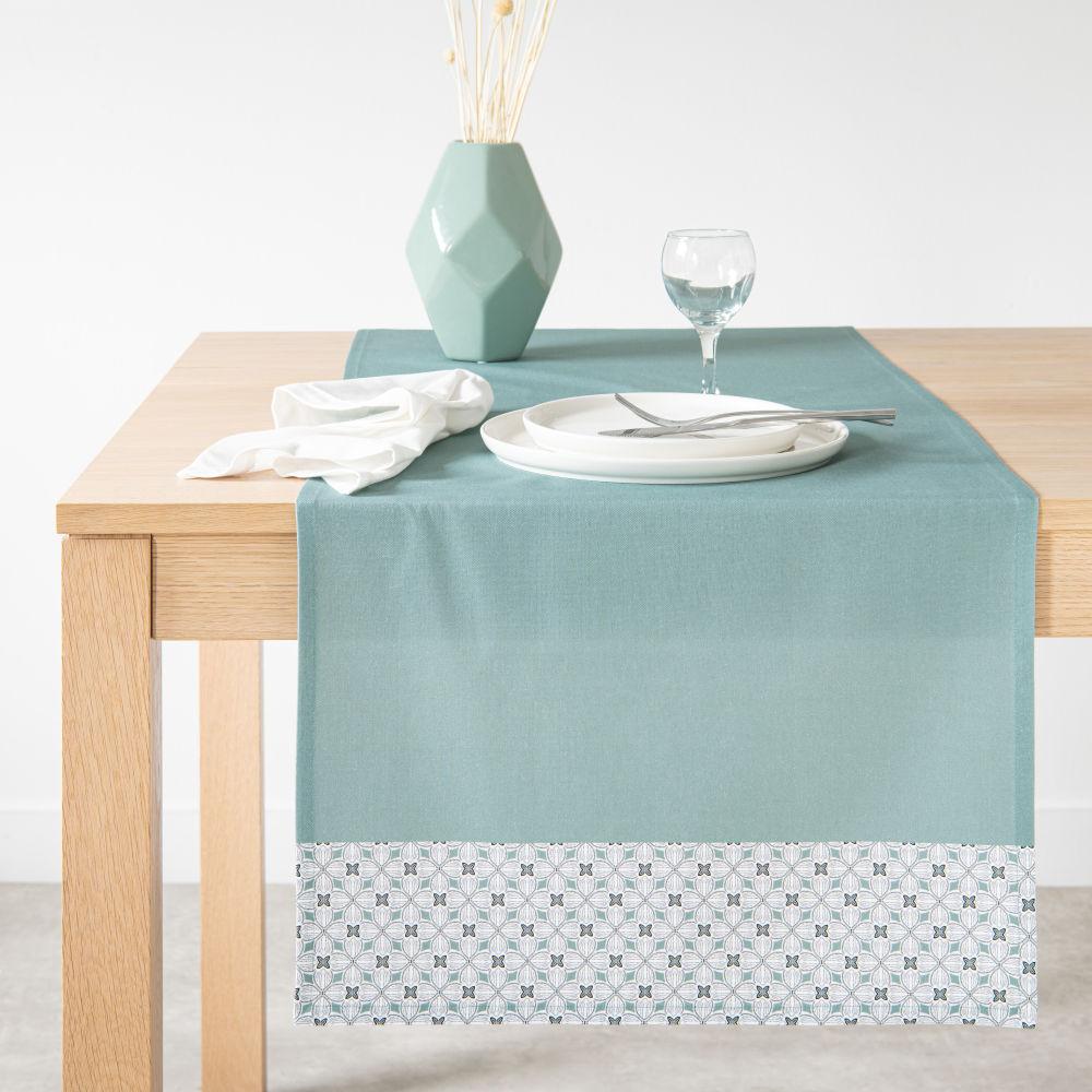 Chemin de table en coton imprimé 48x150