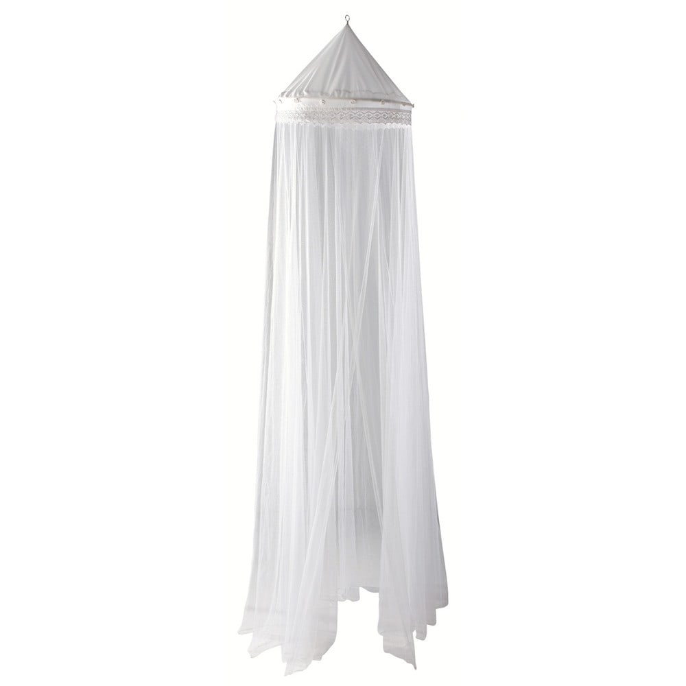 Ciel de lit blanc