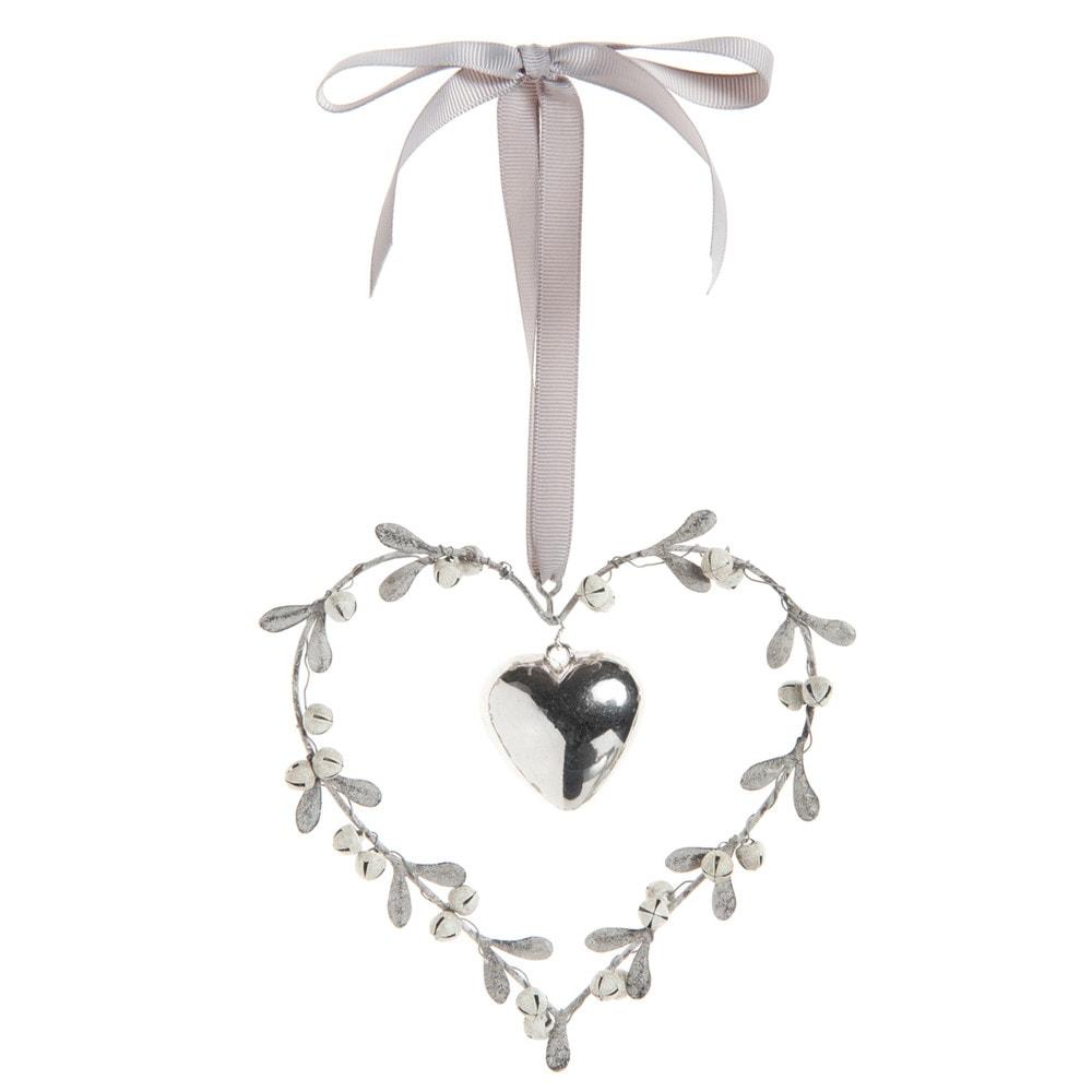 Cœur couronne à suspendre H 12 cm