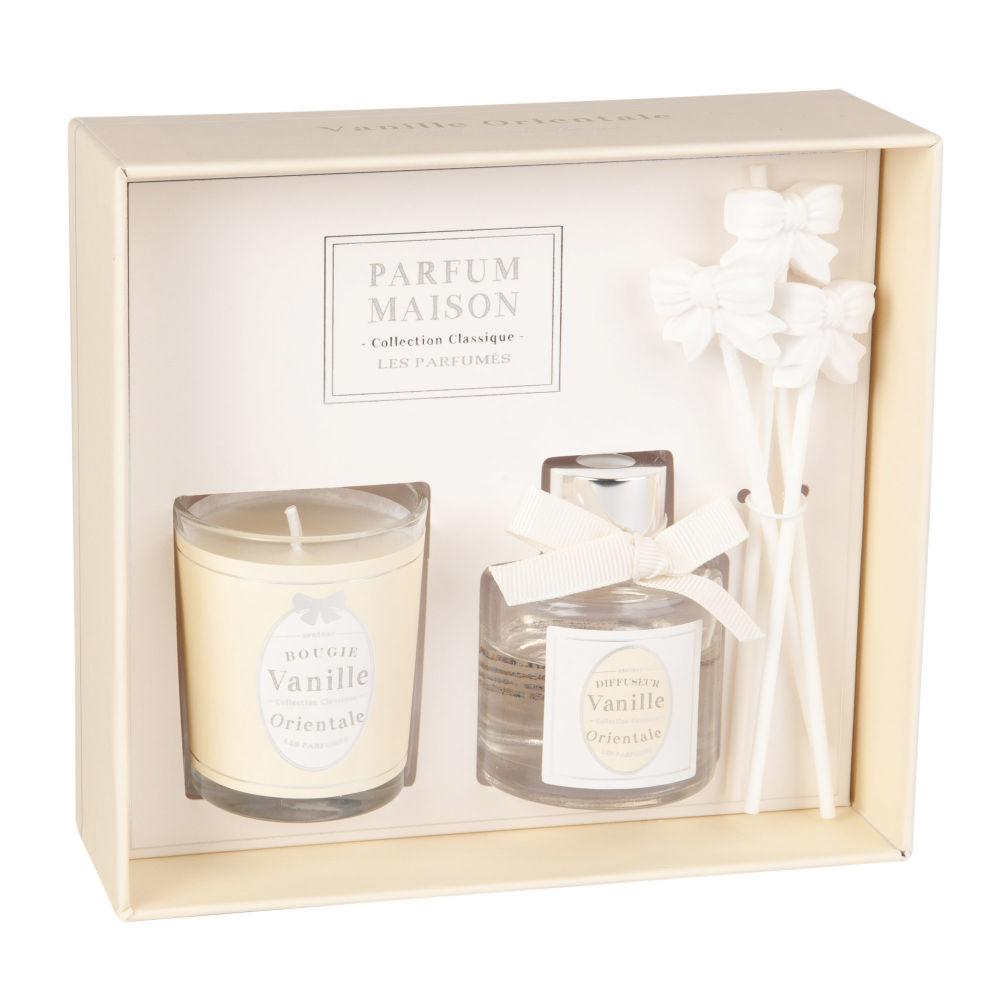 Coffret bougie parfumée et diffuseur de parfum vanille orientale 30 ML