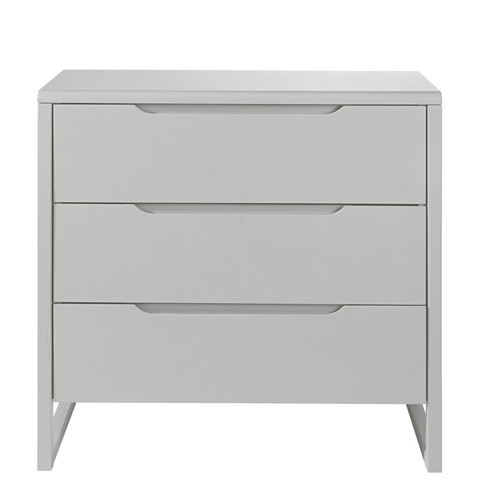 Commode 3 tiroirs grise
