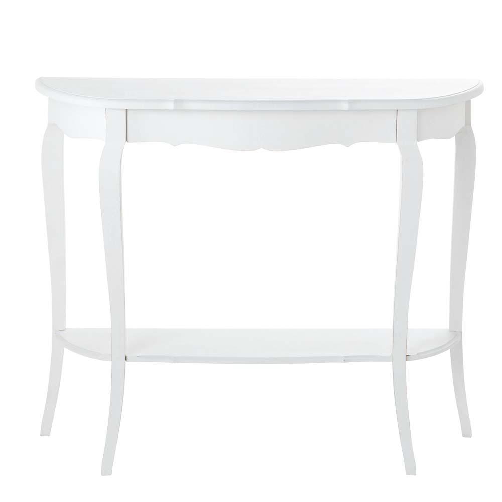 Consolle bianca in legno L 94 cm