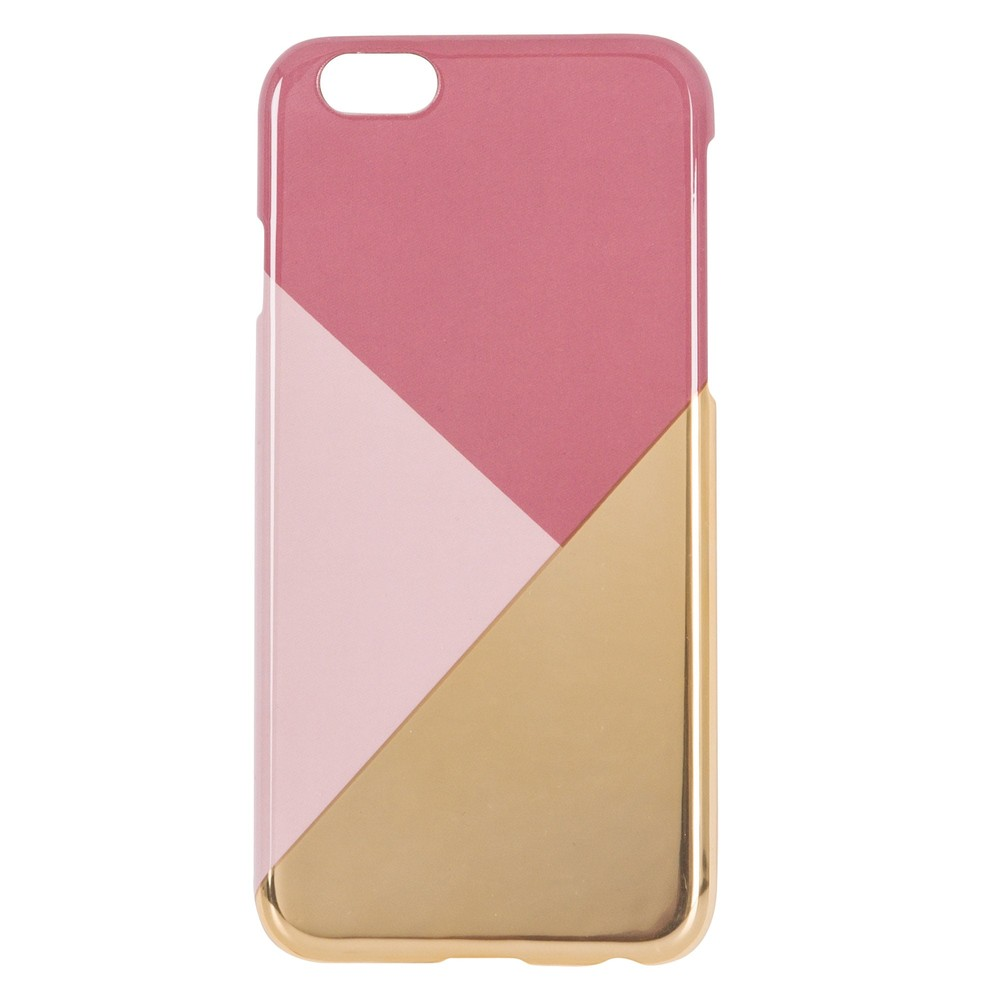 Coque graphique rose et dorée pour iPhone 5