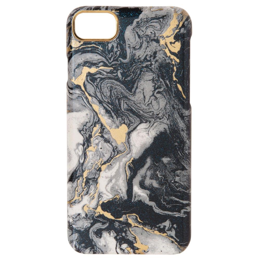 Coque Iphone 6/7/8 en plastique effet marbre noir