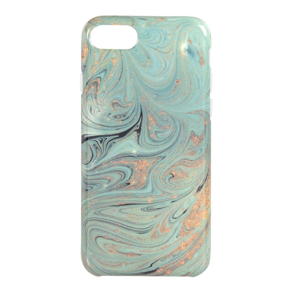 Coque Iphone 6/7/8/SE effet marbre bleu