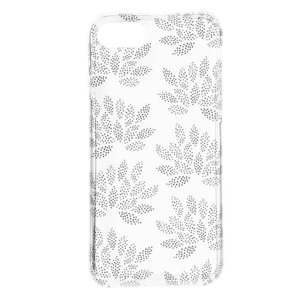 Coque Iphone 6/7/8/SE transparent à motifs feuilles