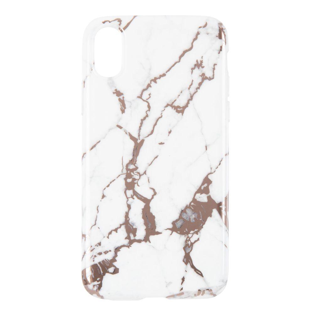 Coque Iphone X/XS effet marbre blanc