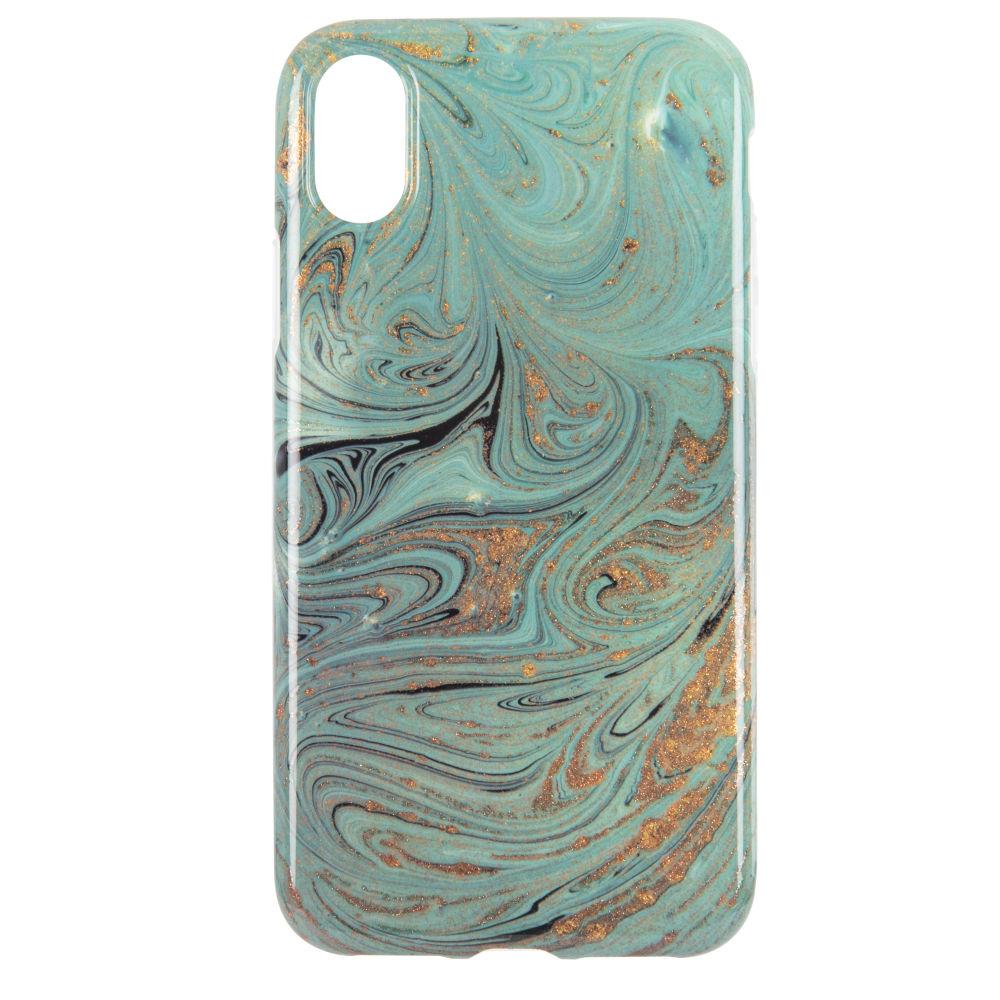 Coque Iphone X/XS effet marbre jade (photo)