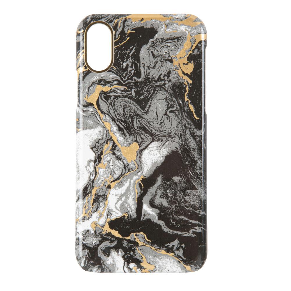 Coque Iphone X/XS effet marbre noir (photo)