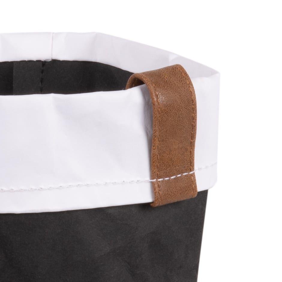 Corbeille à pain en papier noir et blanc