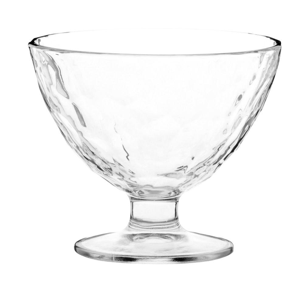 Coupe à glace en verre martelé