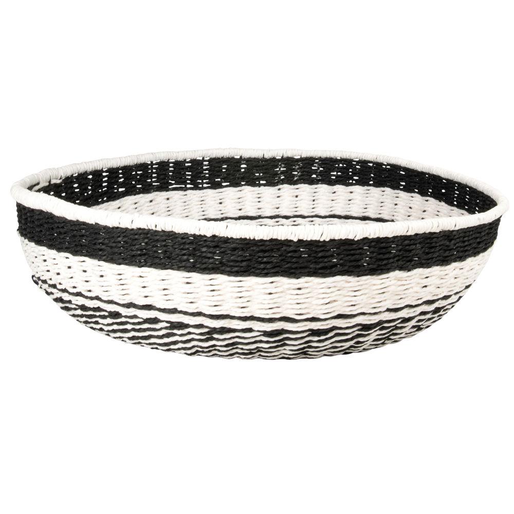 Coupe en corde noire et blanche
