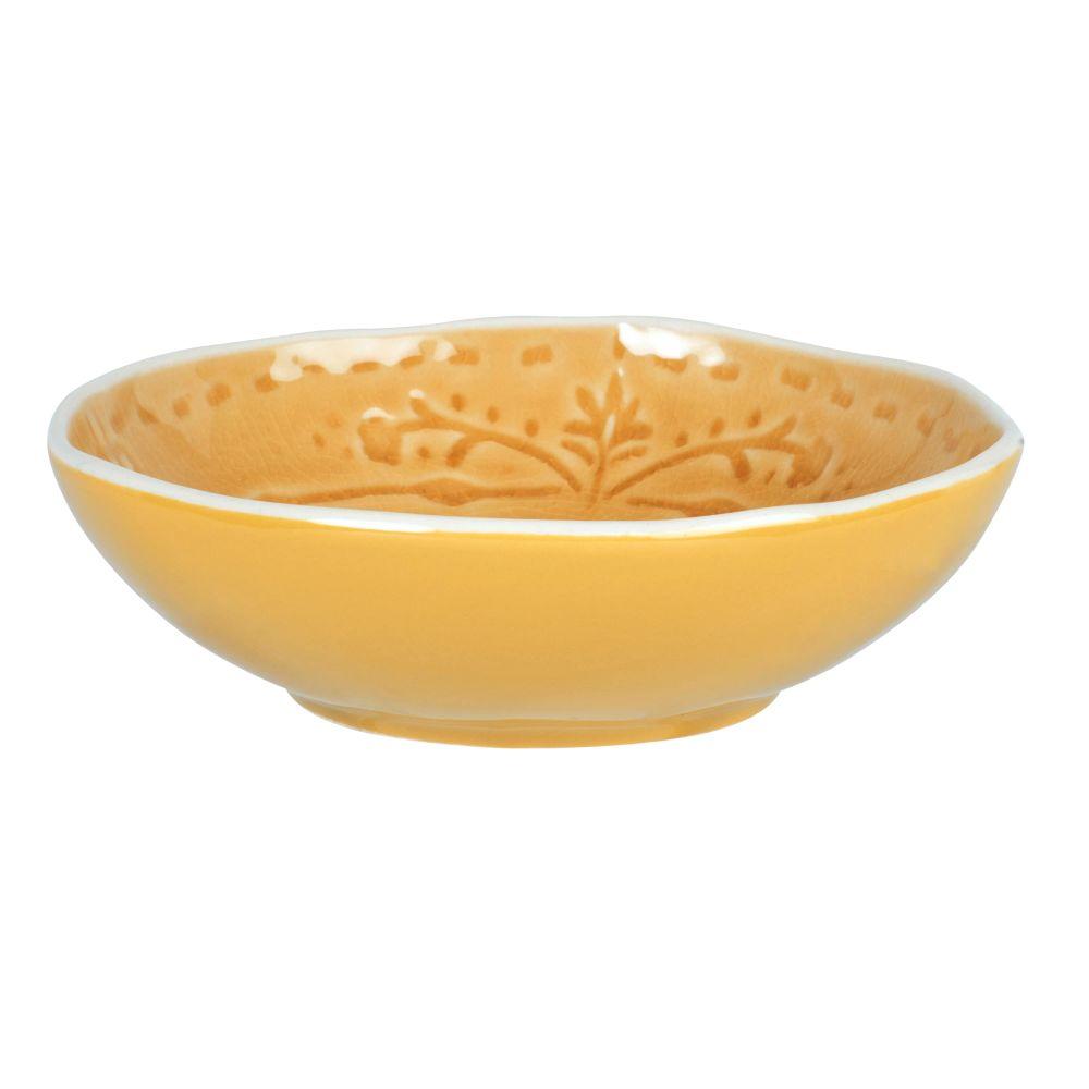 Coupelle en grès jaune moutarde